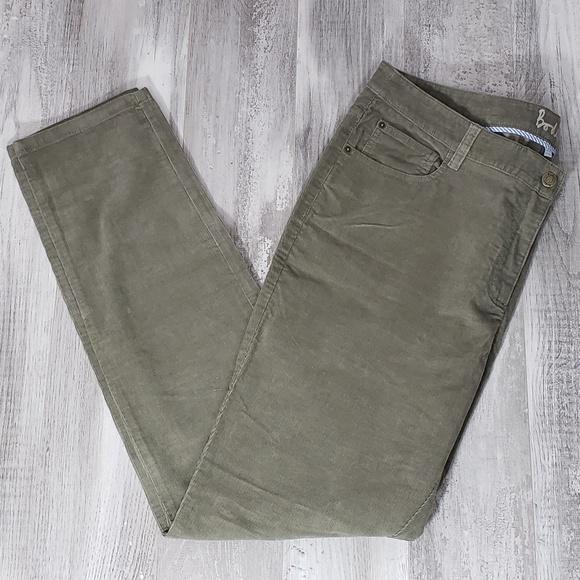 7f5110c11be3c Boden Pants - Boden Green Brown Corduroy Straight Leg Pants 14L